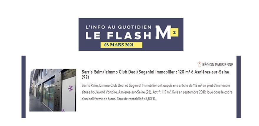 LettreM2 SERRIS acquisition Anières